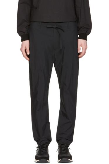 Undecorated Man - Black Slim Drawstring Trousers