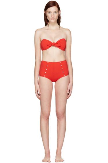 Lisa Marie Fernandez - Red Poppy Button Bikini