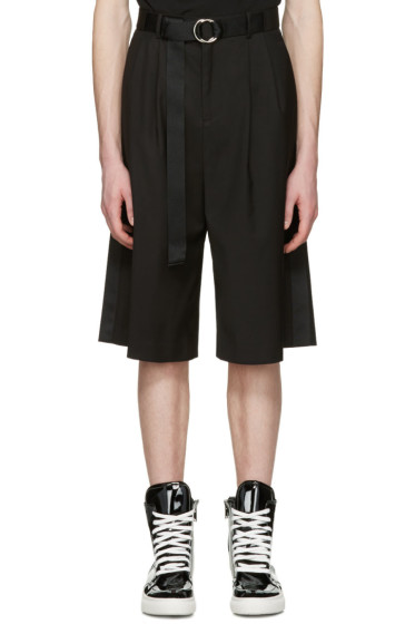 D by D - Black Belted Shorts