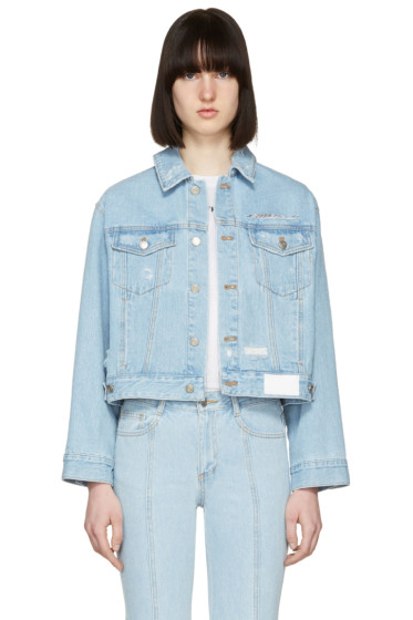 SJYP - Blue Denim Back Button Jacket