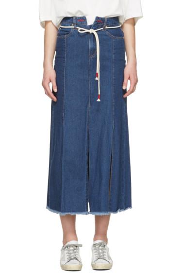 SJYP - Indigo Wide Slit Jeans
