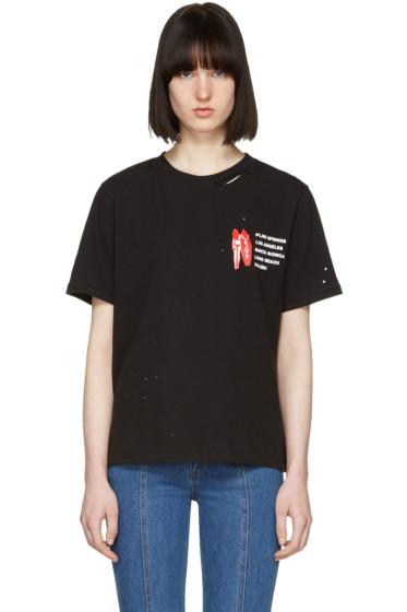 SJYP - Black 'L.A. Club' T-Shirt