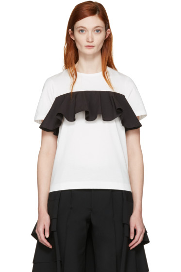 Edit - White & Black Ruffle T-Shirt