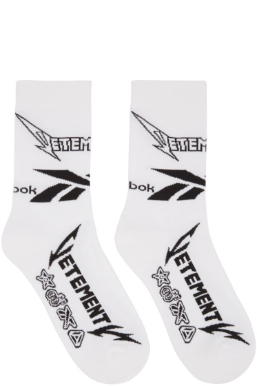 Vetements - White Reebok Edition Metal Socks
