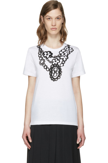 Comme des Garçons Girl - Black Flower Necklace T-Shirt