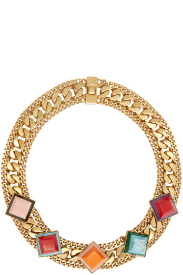 Fendi - Gold Rainbow Necklace