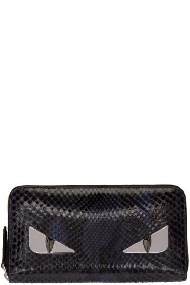 Fendi - Purple Python 'Bag Bug' 2Jour Wallet