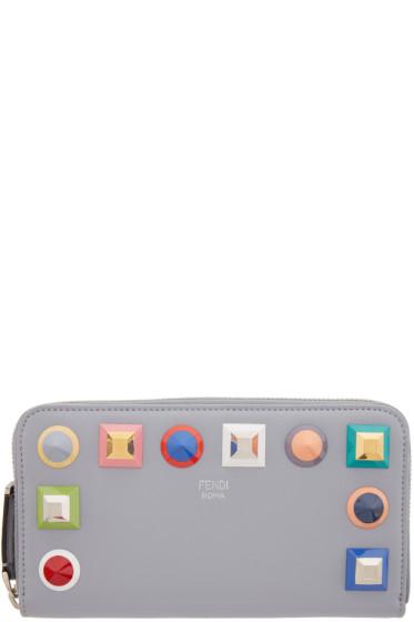 Fendi - Grey Rainbow 2Jours Zip Wallet