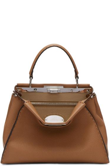 Fendi - Brown Regular Selleria Peekaboo Bag