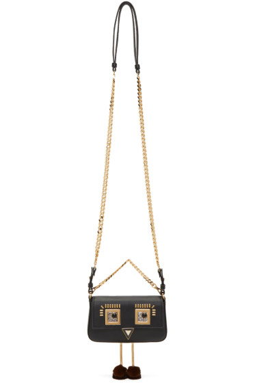 Fendi - Black 'Square Eyes' Micro Baguette Bag
