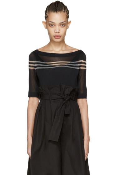 Fendi - Black Stripe Knit Pullover