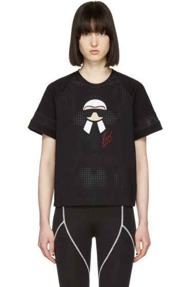 Fendi - Black Karlito Leisure T-Shirt