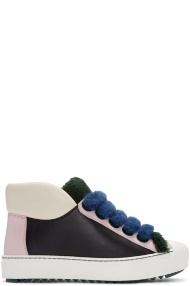 Fendi - Multicolor Shearling Sneakers