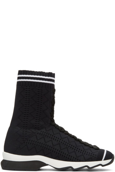 Fendi - Black Sock High-Top Sneakers