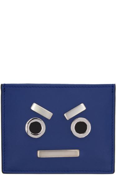 Fendi - Blue 'Fendi Faces' Card Holder