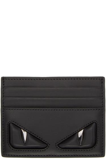Fendi - Black 'Bag Bug' Card Holder