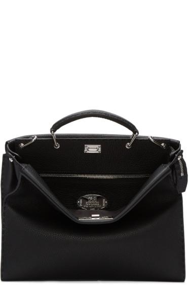 Fendi - Black Peekaboo Briefcase