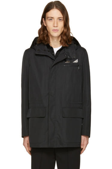 Fendi - Black Bag Bugs Hooded Jacket