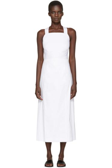 Rosetta Getty - White Apron Wrap Dress