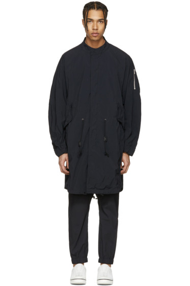 Attachment - Black Long Bomber Jacket