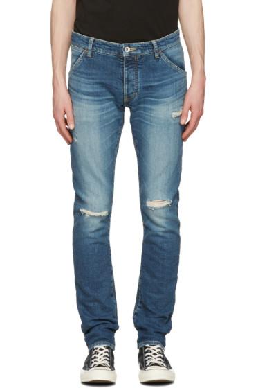 Attachment - Indigo Distressed Skinny Jeans