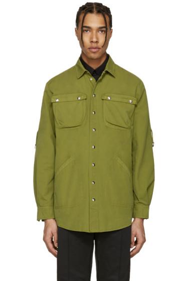 Moschino - Green Military Shirt