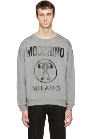 Moschino - Grey Logo Pullover