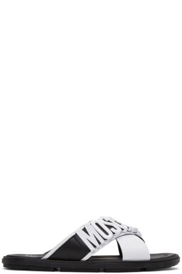 Moschino - White Logo Sandals
