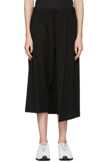Y's - Black Wool Wrap Trousers