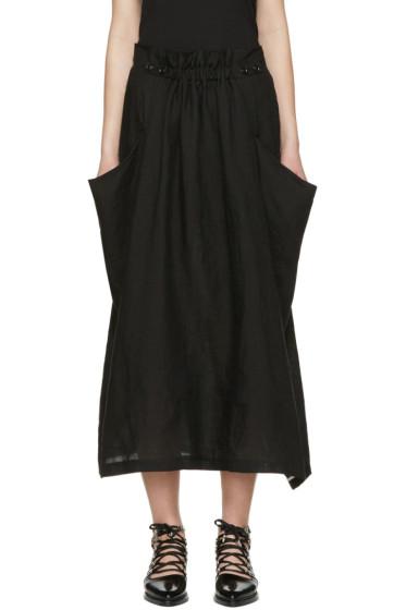 Y's - Black Deep Pockets Skirt