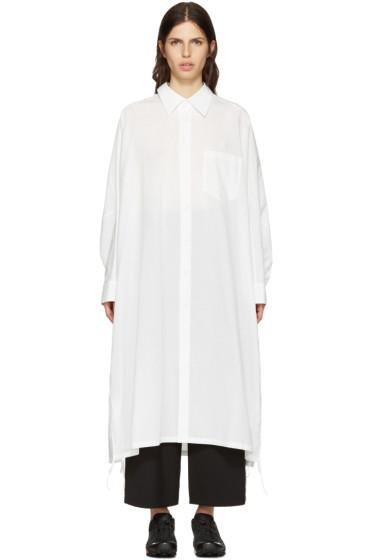 Y's - White Dolman Shirt Dress