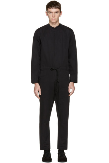 Isabel Benenato - Black Cotton Jumpsuit