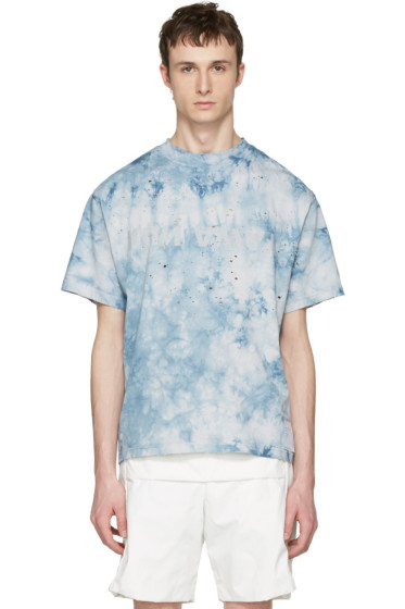 Satisfy - Blue Tie Dye 'Run Away' Moth Eaten T-Shirt