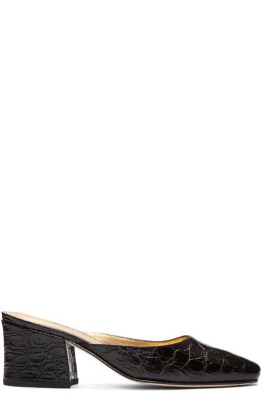 Dorateymur - Black Model Z Slip-On Heels