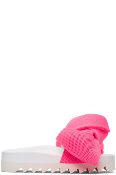 Joshua Sanders - ピンク ボウ スライド サンダル