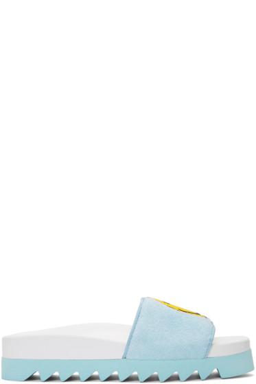 Joshua Sanders - ブルー スマイル スライド サンダル
