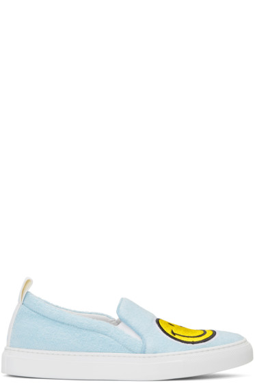 Joshua Sanders - Blue Smile Slip-On Sneakers