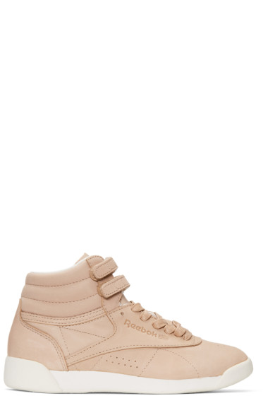 Reebok Classics - Pink FACE Edition Freestyle High-Top Sneakers