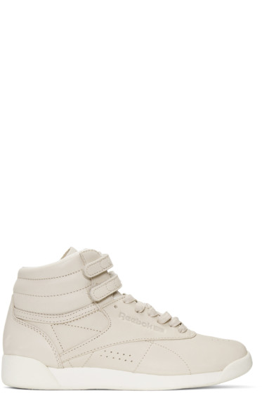 Reebok Classics - Grey FACE Edition Freestyle High-Top Sneakers