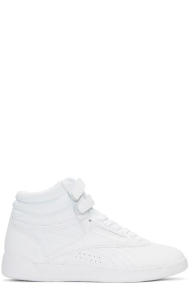 Reebok Classics - White Freestyle High-Top Sneakers