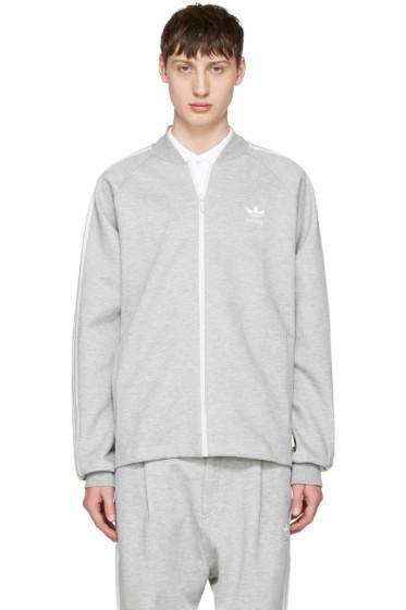 adidas Originals - Grey SST Premium Zip Sweater