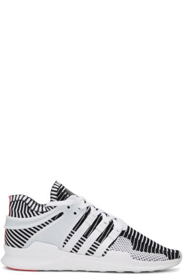 adidas Originals - ホワイト & ブラック イクイップメント サポート ADV PK スニーカー