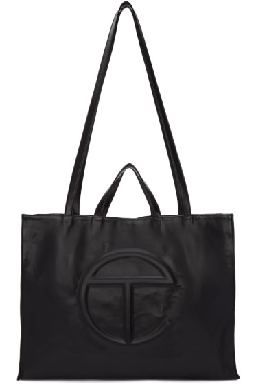 Telfar - Black Large Logo Tote Bag