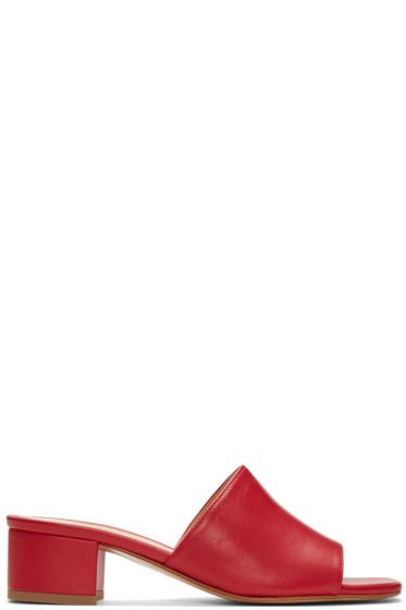Maryam Nassir Zadeh - Red Sophie Slide Sandals
