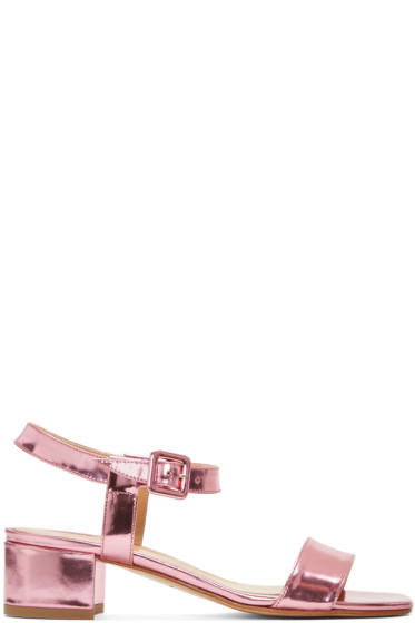 Maryam Nassir Zadeh - Pink Sophie Buckle Sandals