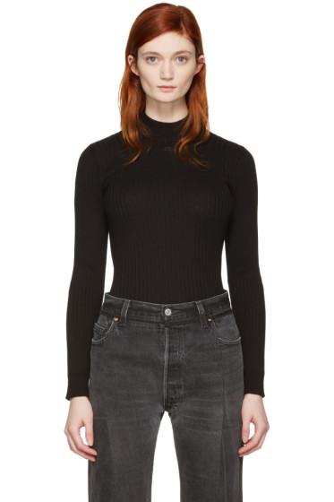 Courrèges - Black Classic High Neck Pullover