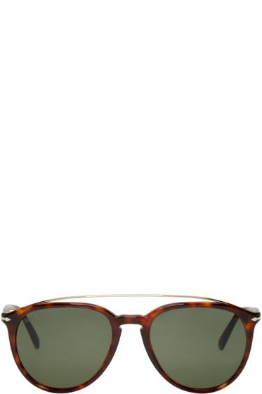 Persol - Tortoiseshell Double Bridge Sunglasses