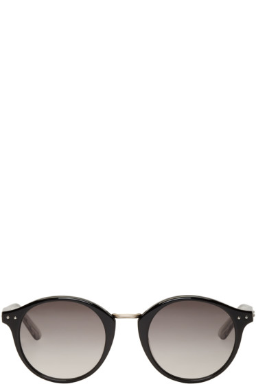 Bottega Veneta - Black Round Sunglasses