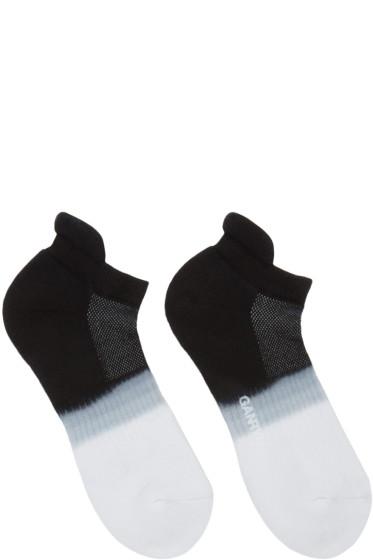 Ganryu - Black & White Tie-Dye Socks