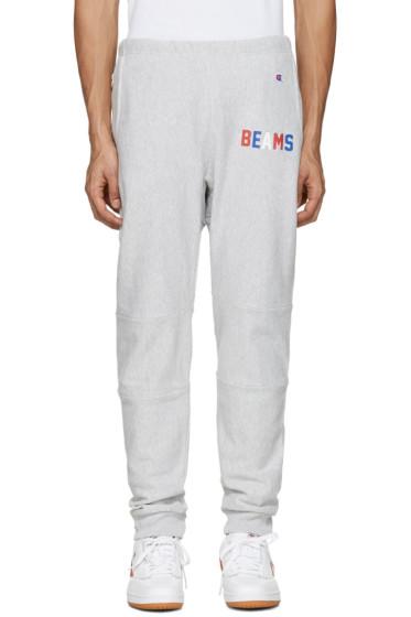 Champion x Beams - Grey Logo Lounge Pants
